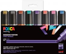 POSCA Pigmentmarker PC-8K, 8er Box, farbig sort...